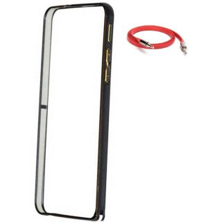 Samsung Galaxy A5 (2016) Bumper Case Cover Black With AUX Cable