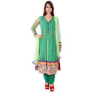 Apratim Green Net Stitched Suit