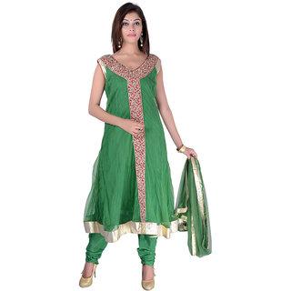 Apratim Green Faux Georgette Stitched Suit