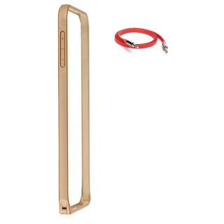 Samsung Galaxy A3 Bumper Case Cover Golden With AUX Cable
