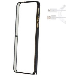 Samsung Galaxy Note 3 Bumper Case Cover Black With USB Cable