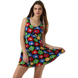 Charming  Dazzling Multi Floral Print  Swim Sexy Cover-Up-Tankini.