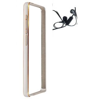 Samsung Galaxy A5 Bumper Case Cover Silver With Earphone