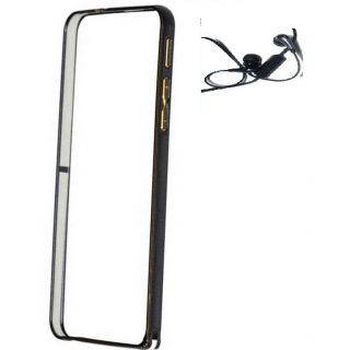 Samsung Galaxy Grand 3 G7200 Bumper Case Cover Black With Earphone
