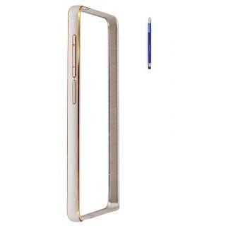 Samsung Galaxy Grand 2 G7106 Bumper Case Cover Silver With Stylus Pen
