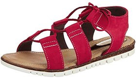 Catwalk Women's Maroon Sandals