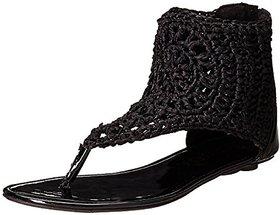 Catwalk Women's Black Sandals
