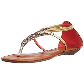 Catwalk Women's Gold Sandals