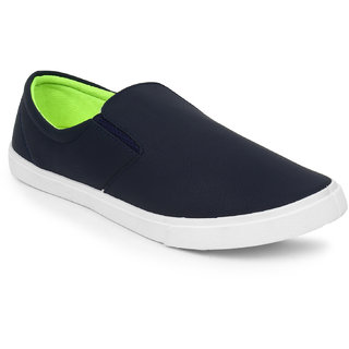 Adreno Men's Navy Lace Up Casual Shoes