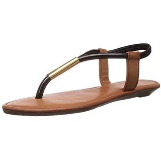 Catwalk Women's Beige & Black Sandals