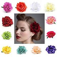 Mahna Rose Flower Hair Clip(Free Five Mukhi Rudraksha)