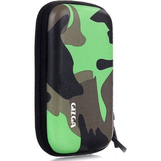 GIZGA External Hard Drive Disk Case Cover Camouflage Green For 2.5