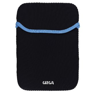 GIZGA 7 inch -8 inch Protective Reversible Laptop Sleeve (Black + BLUE)