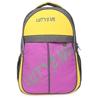 Lutyens Multicolor Zip Closure,Water Resistant Backpack
