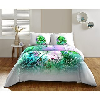 Multi Colour 220 TC Cotton Bedsheet (Bedsheet Set (King))