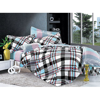 Multi Colour Microfibre Printed Comforter (Comforter Set (Double))