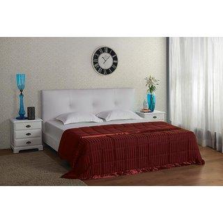 Maroon Satin Stripe Comforter (Comforter (King))