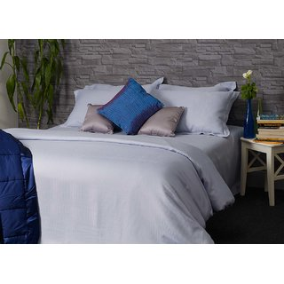 Sterling Blue Sterling Blue 600TC Easy Care Cotton Stripes Bedlinen (Bedsheet Set (Single))