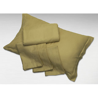 Gold Solid Pillow Covers (Bedsheet Set (King))