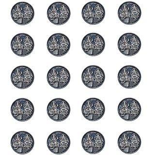 Kataria Jewellers Lakshmi Ganesha 10 Gm Silver Coins With Diwali Gift Box Pack Of 20