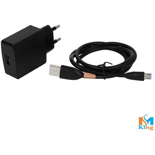 Lava KKT 25 2Ampere Fast Android Black Charger By MS KING