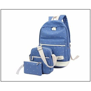 Aeoss Women School Bag College Wind Women s Backpack Canvas Fashion Bag Set  of 3 Bag 8964c4987b