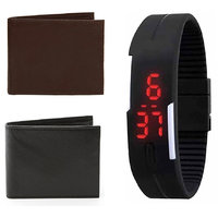 Rectangle Dial Black Silicone Strap Men Automatic Watch for Men