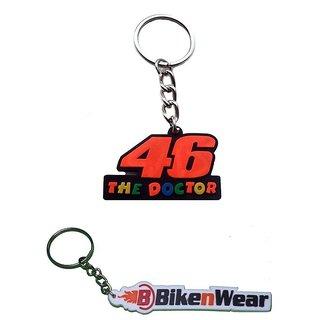Key Chain Doctor46-Orange And Bikenwear - Set Of 2