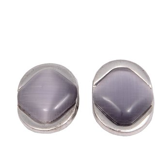 Woap Silver Cufflinks For  Men