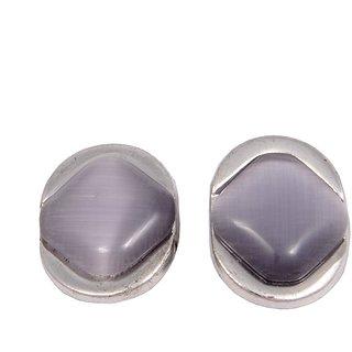Woap Silver Cufflinks For  Men
