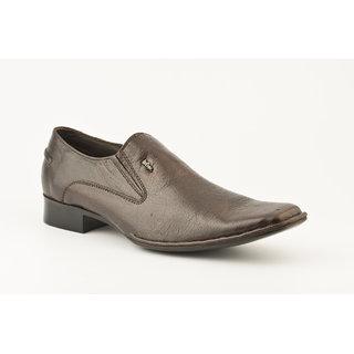 Lee Copper Men's Brown Slip on Formal Shoes