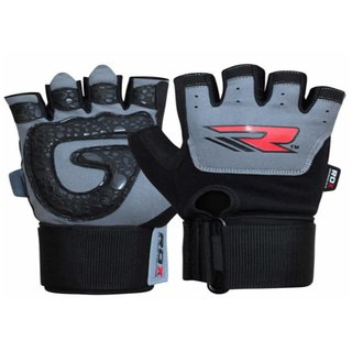 RDX GYM GLOVE LEATHER WHITE/BLACK-M