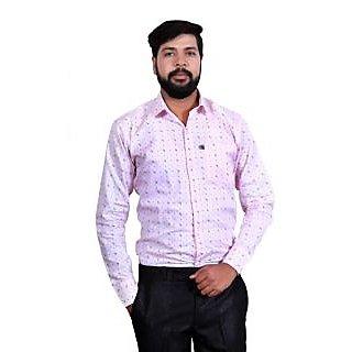 LONDON LOOKS Men's CASUAL PAPER COTTON Poly-Cotton Shirt