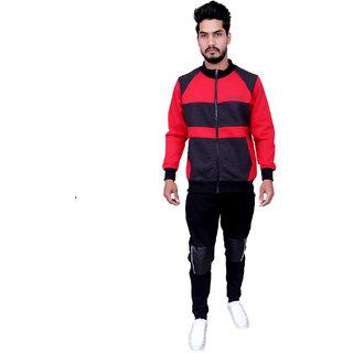 Auburn Zipper Red and Melange 90 warm fleece ultra soft sweatshirt
