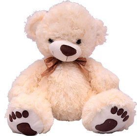 U Smile Cream Bear (L) 34 cm - 34 cm  (Pink)