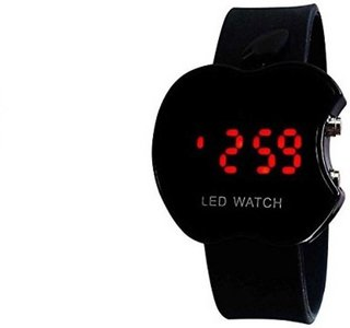 Apple Black LED Digital Wrist Watch For Boys