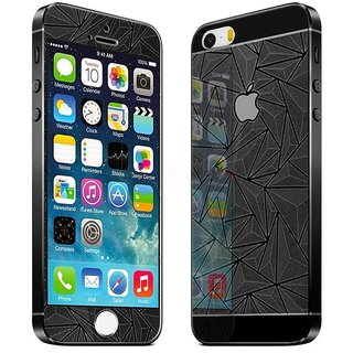 huge discount 089ee fd29e True Collection Front Back Diamond Designed Tempered Glass Protector for  Apple Iphone 5s Black