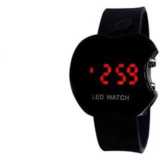 Apple Black LED Digital Wrist Watch For Boys