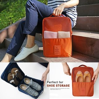 3 Pair Water Proof Shoe Storage Bag Travel Organizer Multi purpose Portable Foldable Shoe Organizer Pouch
