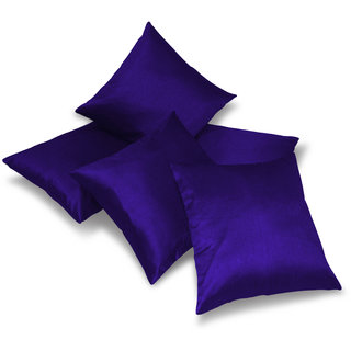 Plain Blue Cushion Covers 40 X 40 Cms (5 Pcs Set)
