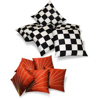 Regular And Small Cushion Covers Combo-Pack Of 10 Pcs