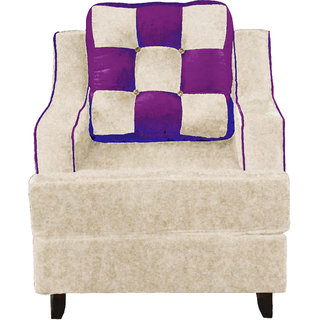 Fusion Three+One+One Seater (Ivory & Purple)