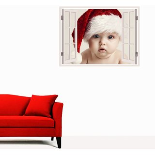 Impression Wall Christmas Window Illusions Wall Stickers
