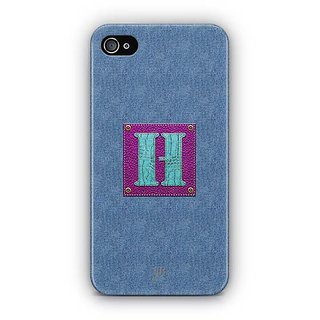YuBingo Monogram with Beautifully Written Jeans and Girly Leather Finish  letter H Designer Mobile Case Back Cover for Apple iPhone 4 / 4S