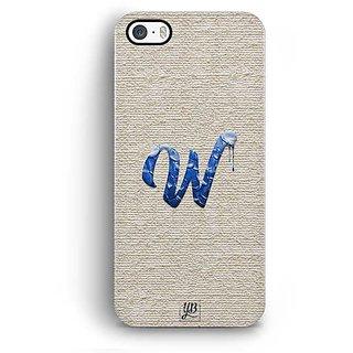 YuBingo Monogram with Beautifully Written Paint Finish letter W Designer Mobile Case Back Cover for Apple iPhone 5 / 5S / SE