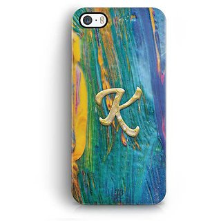 YuBingo Monogram with Beautifully Written Funky Colourful Paint Finish letter K Designer Mobile Case Back Cover for Apple iPhone 5 / 5S / SE