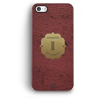 YuBingo Monogram with Beautifully Written Wooden and Metal (Plastic) Finish letter I Designer Mobile Case Back Cover for Apple iPhone 5 / 5S / SE