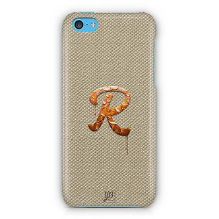 YuBingo Monogram with Beautifully Written Paint Finish letter R Designer Mobile Case Back Cover for Apple iPhone 5C