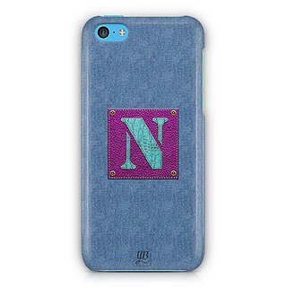 YuBingo Monogram with Beautifully Written Jeans and Girly Leather Finish letter N Designer Mobile Case Back Cover for Apple iPhone 5C