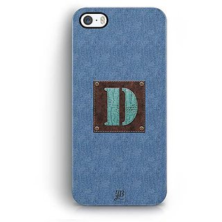 YuBingo Monogram with Beautifully Written Jeans and Macho Male Leather Finish letter D Designer Mobile Case Back Cover for Apple iPhone 5 / 5S / SE